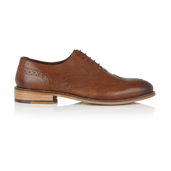 Gatsby Leather Brogue Chestnut