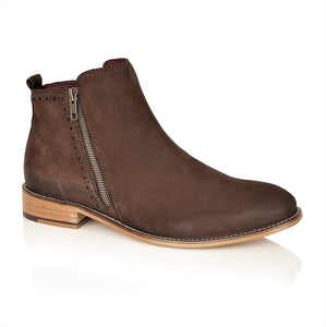 Wallace Nubuck Brown, Boots, London Brogues  - London Brogues
