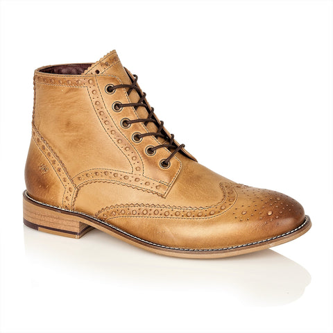 Gatsby Hi Boot Leather Tan, Boots, London Brogues  - London Brogues