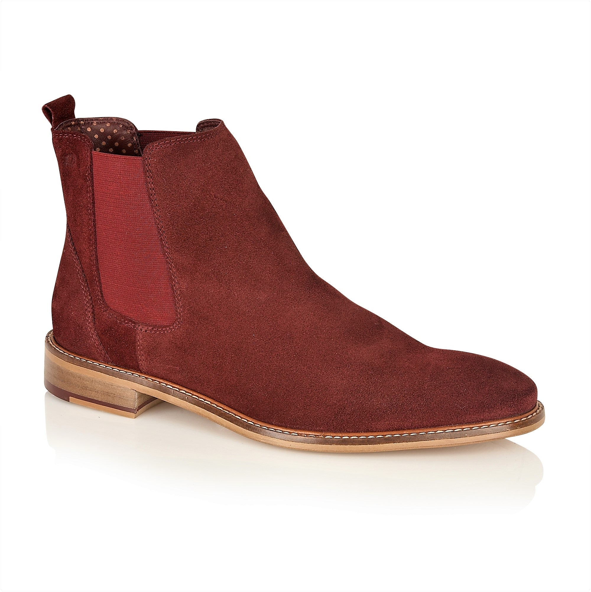 Hamilton Suede Chelsea Boot Bordo, Boots, London Brogues  - London Brogues