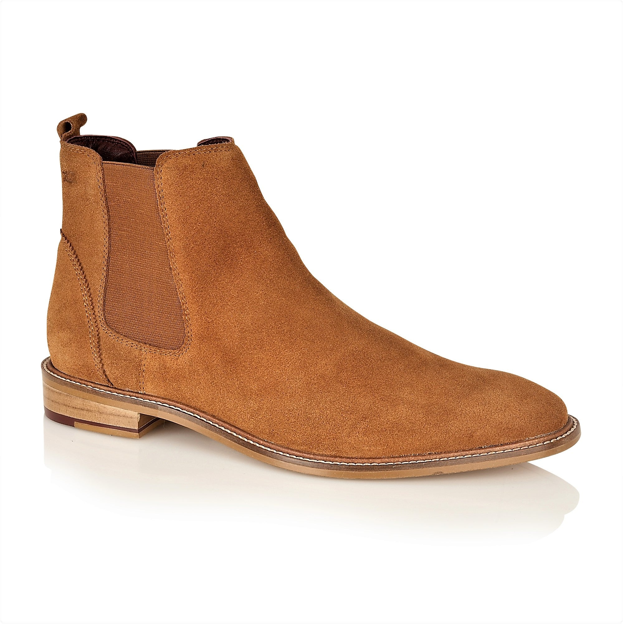 Hamilton Suede Chelsea Boot Tan, Boots, London Brogues  - London Brogues