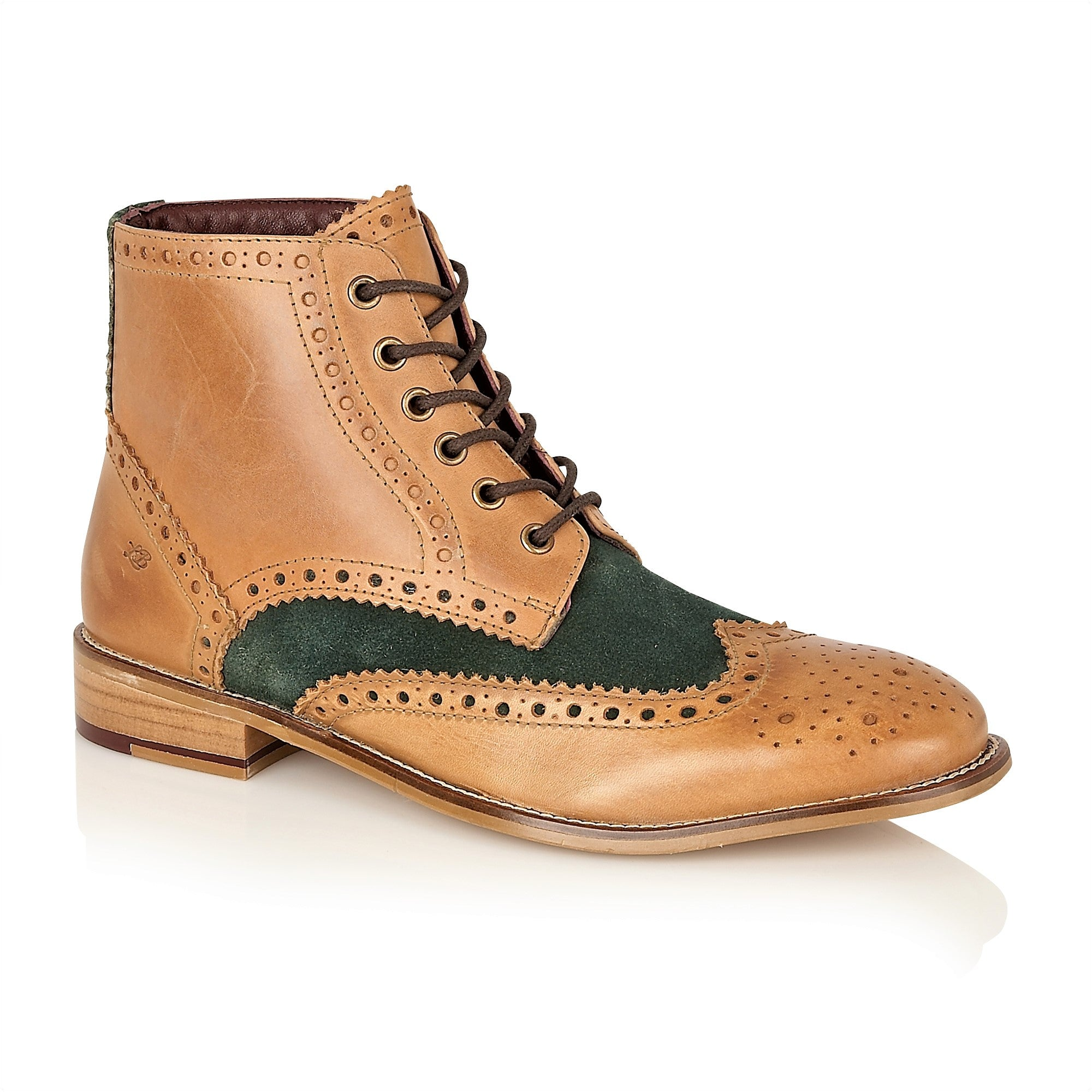 Gatsby Hi Boot Leather Tan/Green