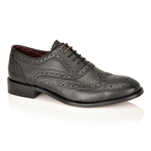 Watson Full Leather Brogue Black