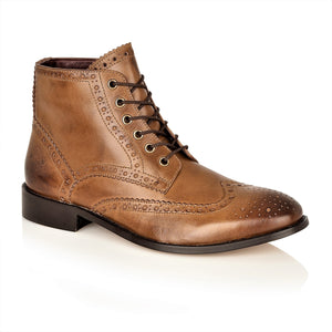 Gatsby Hi Boot Leather Chestnut