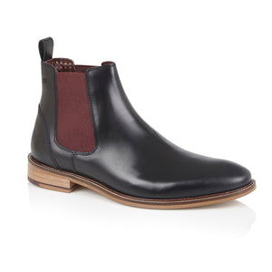 Hamilton Chelsea Boot Leather Black, Boots, London Brogues  - London Brogues