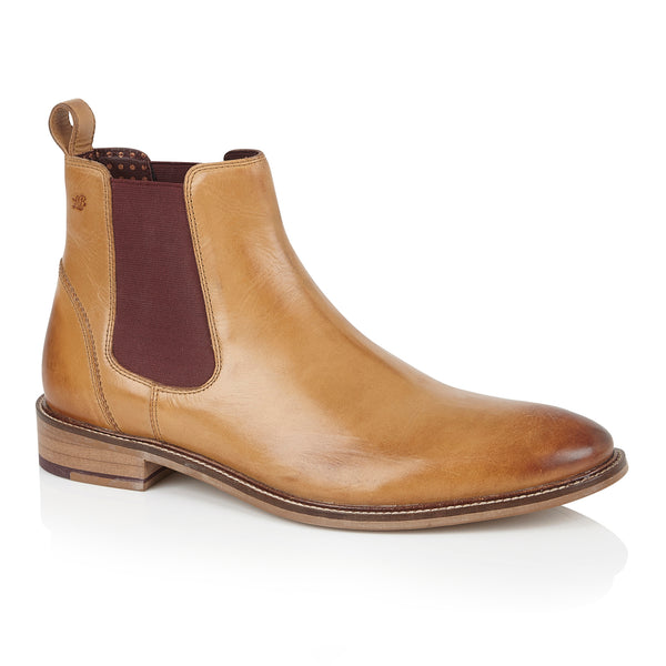 Hamilton Chelsea Boot Leather Tan, Boots, London Brogues  - London Brogues