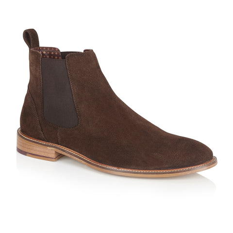 Hamilton Suede Chelsea Boot Brown