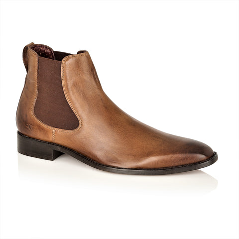 Parker Full Leather Chelsea Boot Chestnut, Boots, London Brogues  - London Brogues