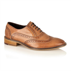 George Oxford Leather Tan, Shoes, London Brogues  - London Brogues