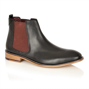 Gatsby Chelsea Boot Black Leather