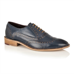George Oxford Leather Navy, Shoes, London Brogues  - London Brogues