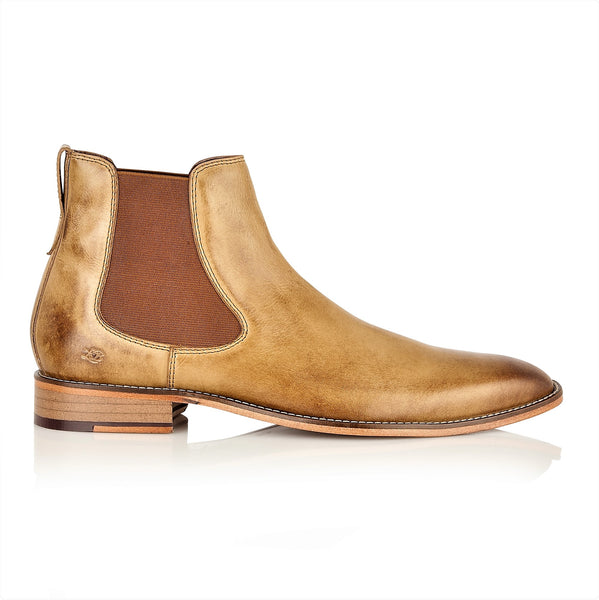 Parker Full Leather Chelsea Boot Tan, Boots, London Brogues  - London Brogues