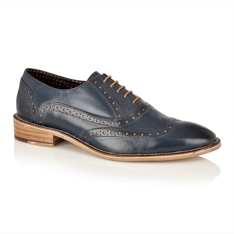 George Oxford Leather Navy