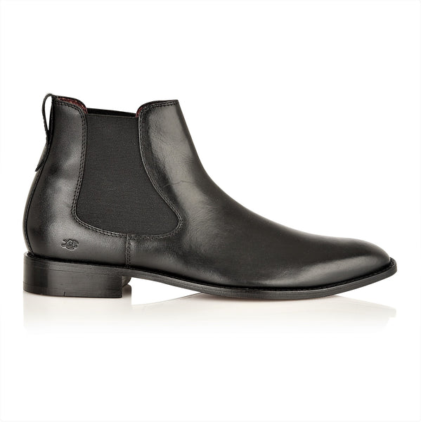 Parker Full Leather Chelsea Boot Black, Boots, London Brogues  - London Brogues