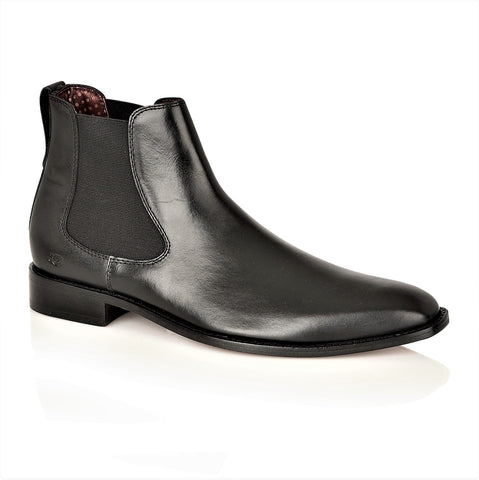 Parker Full Leather Chelsea Boot Black