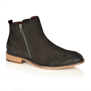 Wallace Nubuck Black, Boots, London Brogues  - London Brogues