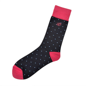Spot Socks Navy