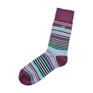 Stripe Socks Purple