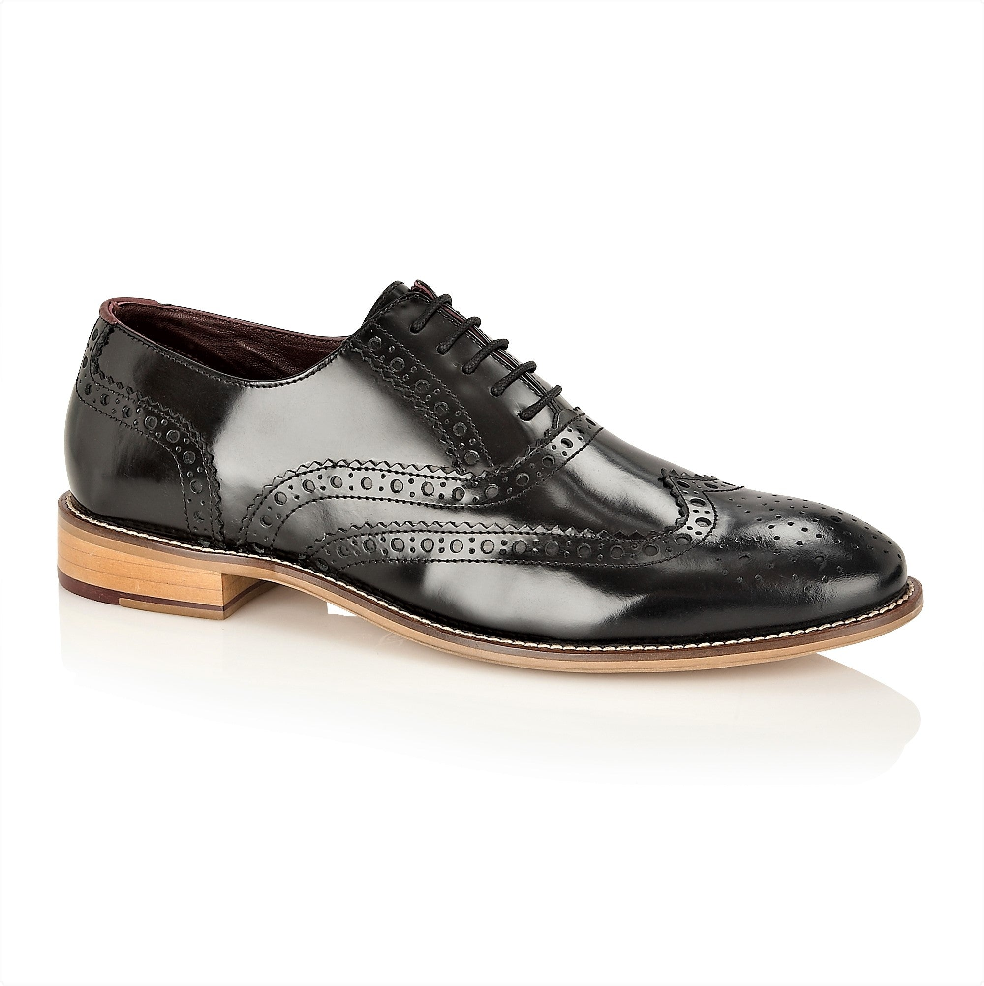 Gatsby Leather Brogue Black Polished