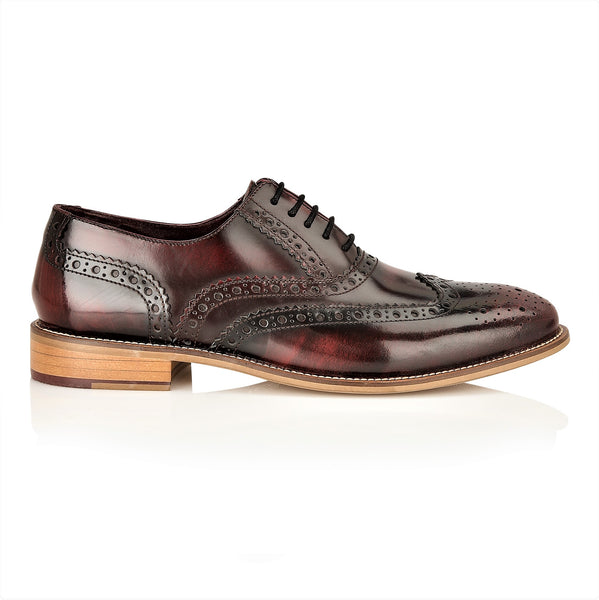 Gatsby Leather Brogue Bordo Polished