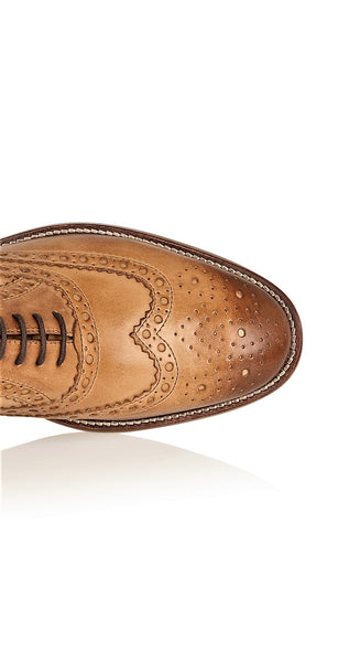 Gatsby Leather Brogue Tan - Wide Fit, Shoes, London Brogues  - London Brogues