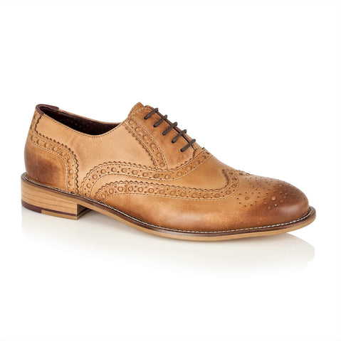 Gatsby Leather Brogue Tan