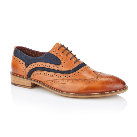Shelby Oxford Tan/Navy