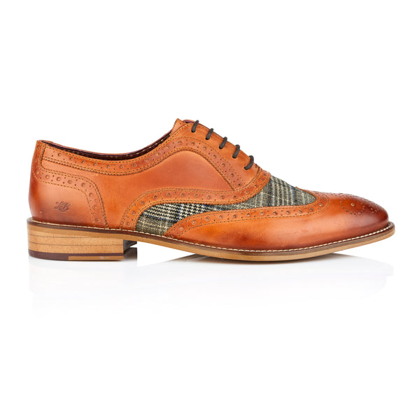 Shelby Oxford Tan/Tweed
