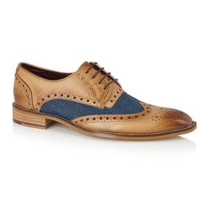 William Derby Tan/Navy Tweed