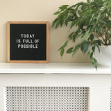 Small letter board (10 x 10 inch) with black felt