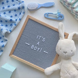 Small letter board (10 x 10 inch) with grey felt