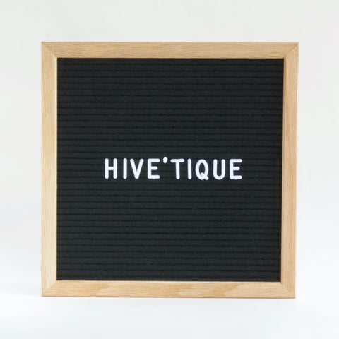 25 x 25 cm small changeable letter board with oak frame and black ...