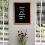 Large letter board (16 x 20 inch) with black felt