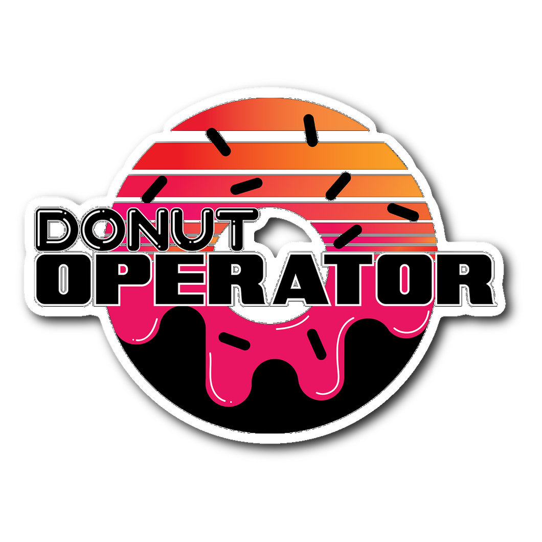 Donut Logo Decal