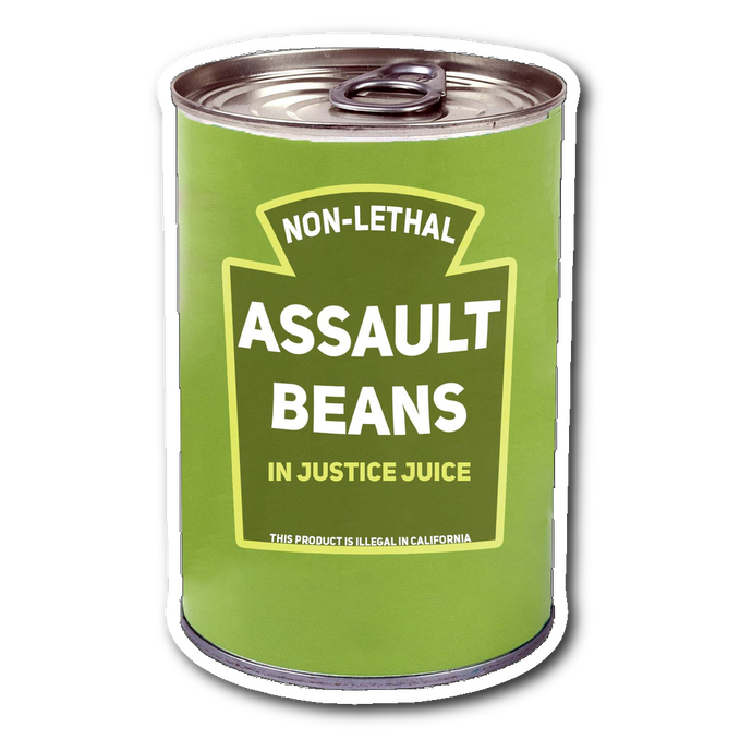 Assault beans decal