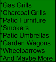 Patio Furniture Outdoor Items And Grills