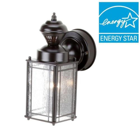 Shaker Cove Mission 150 Degree Outdoor Oiled Rubbed Bronze Motion-Sensing Lantern SL-4133-OR B+