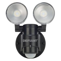 NH Defiant 180 Degree 2-Head Black Motion Activated Outdoor Flood Light A DFI-5936-BK
