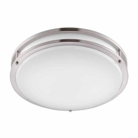 NH Hampton Bay Brushed Nickel LED Round Flushmount DC016LEDA A