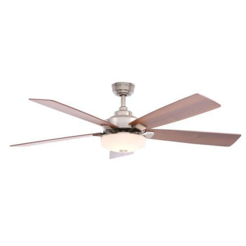 NH Home Decorators Collection Cameron 54 in. Brushed Nickel Ceiling Fan B 14430