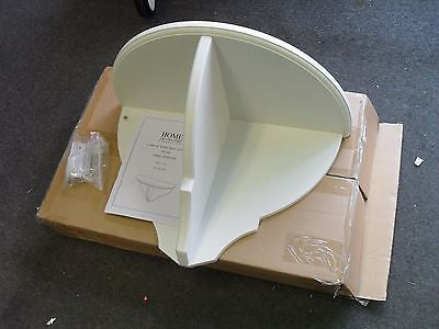 "KZ Martha Stewart Living BF-24899-PF 24"" White Half-Round Wall Shelf IN BOX - ASSEMBLY REQUIRED"