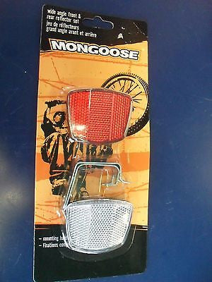 KZ Mongoose 04MG75711 Bike Bicycle Wide Angle Front & Rear Reflector