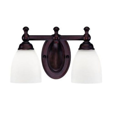 NH Millennium Lighting Rubbed Bronze 2 Light Bathroom Vanity Light A 622-RBZ A