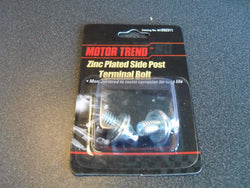 KZ Motor Trend MT202311 Zinc Plated Side Post Terminal Bolts (1 Card of 2 bolts)