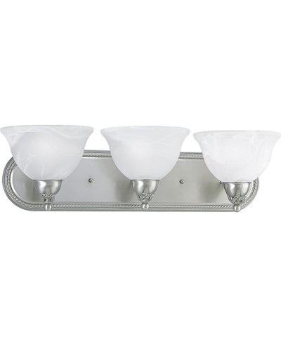 NH Avalon Collection 3-Light Brushed Nickel Bath Light A P3268-09