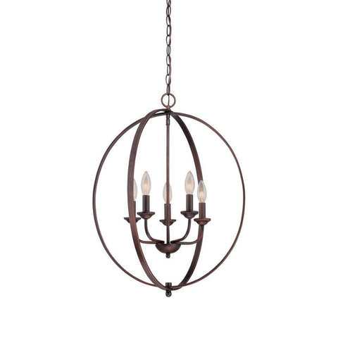 NH Millennium Lighting  5-Light Rubbed Bronze Candle Pendant 3035-RBZ A