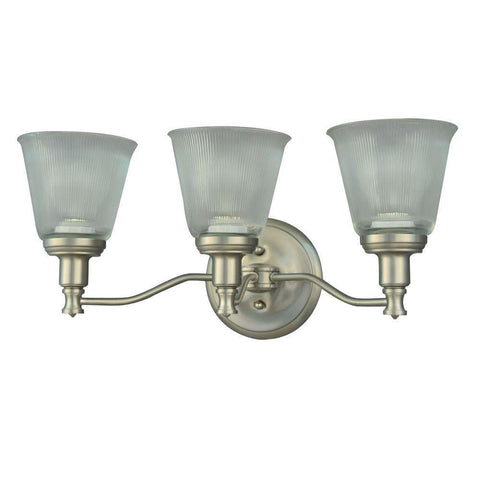 NH Wayland Collection 3-Light Brushed Nickel Plated Vanity Light A V356NK03 A