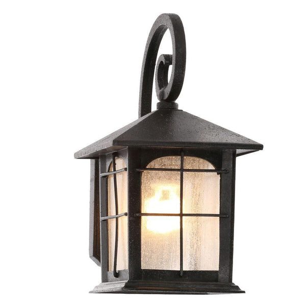 KZ Home Decorators Collection Brimfield 1-Light Aged Iron Outdoor Wall Lantern. B+ Y37029A-151