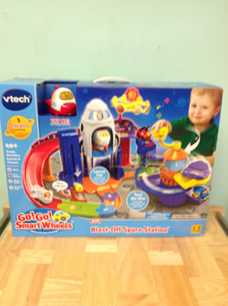 NH VTech Go! Go! Smart Wheels Blast Off Space Station Playset 80-191700 A