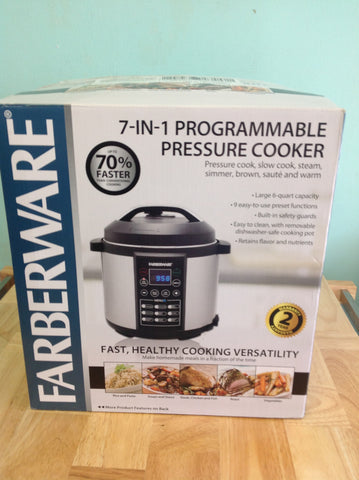NH Farberware 6-Qt Digital Pressure Cooker WM-CS6004W A